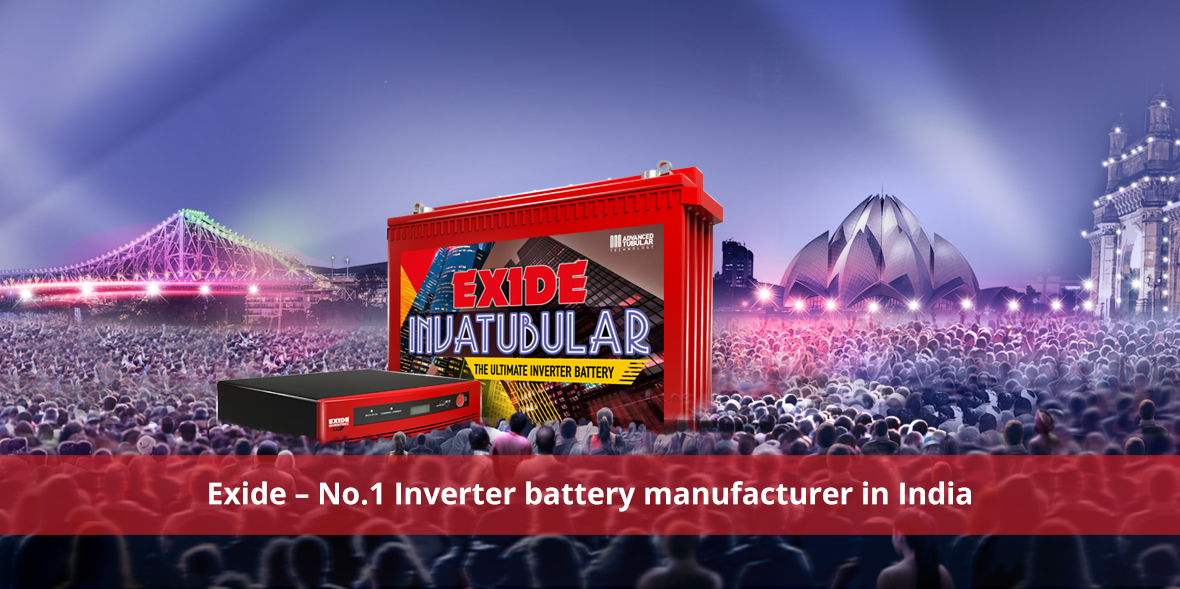 Exide - No.1 Inverter battery manufacturer in Indi
