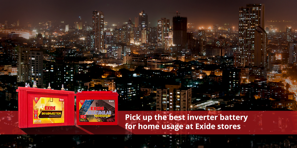 Get the best inverter battery for home usage at Ex