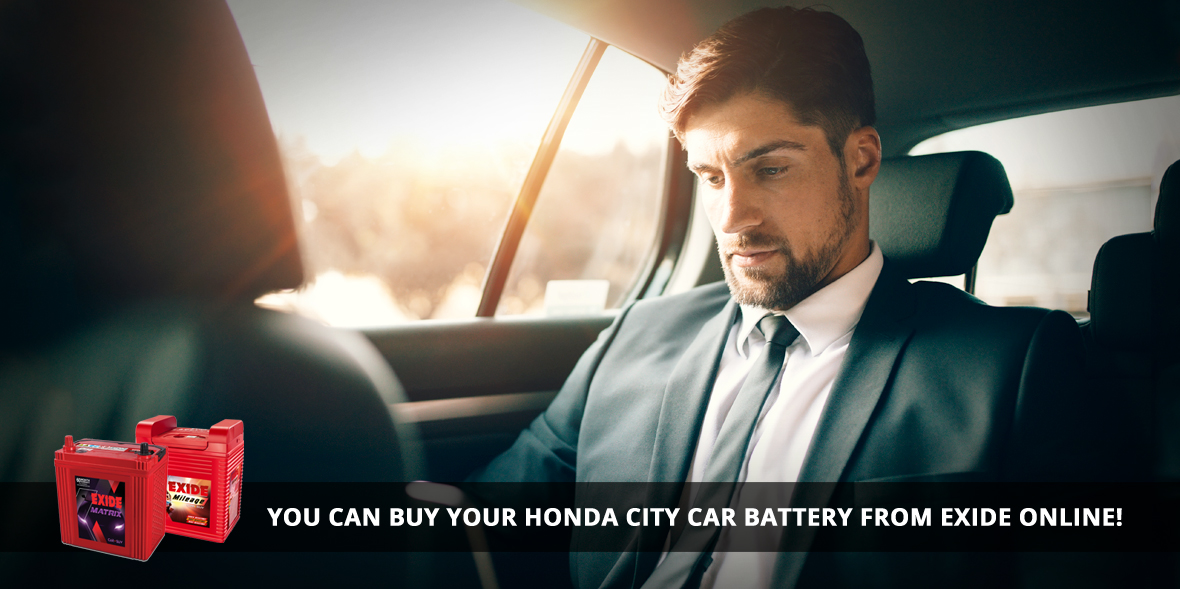 You can buy your Honda City car battery from Exide