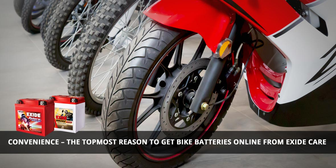 Convenience - The topmost reason to get bike batte