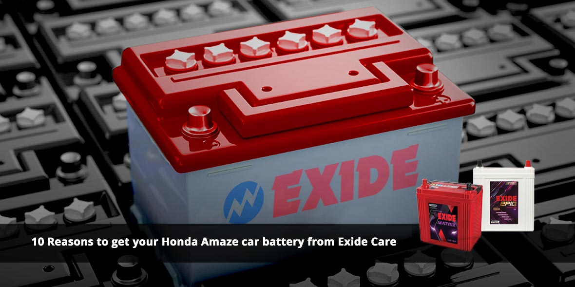 10 Reasons to get your Honda Amaze car battery fro