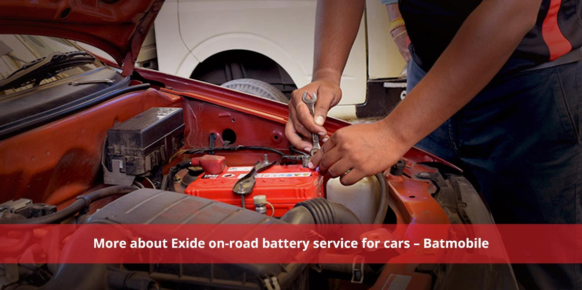 More about Exide on-road battery service for cars