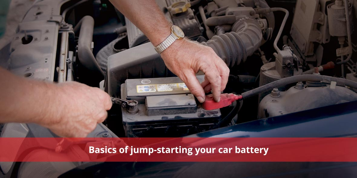 Basics of jump-starting your car battery