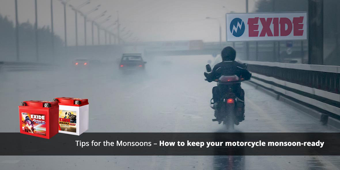 Tips for the Monsoons - How to keep your motorcycl