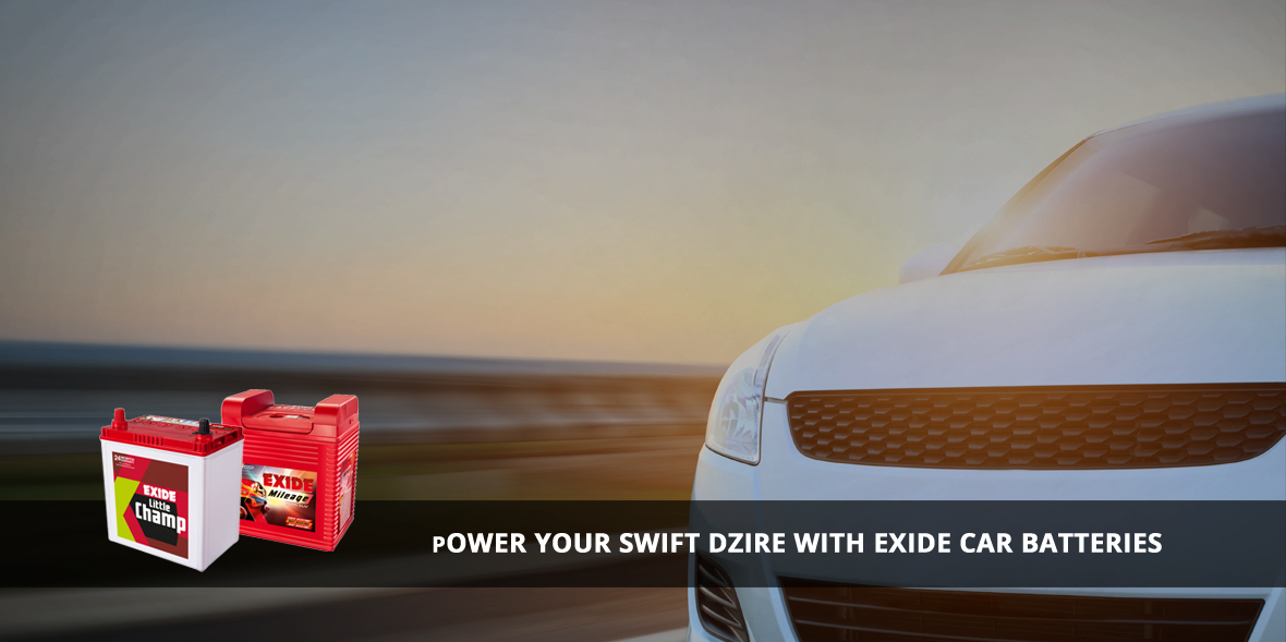 Buy Online Swift Dzire Car Battery From Exide Care At Best Price