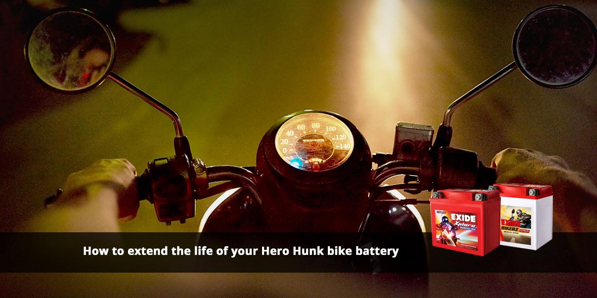 How to extend the life of your Hero Hunk bike batt