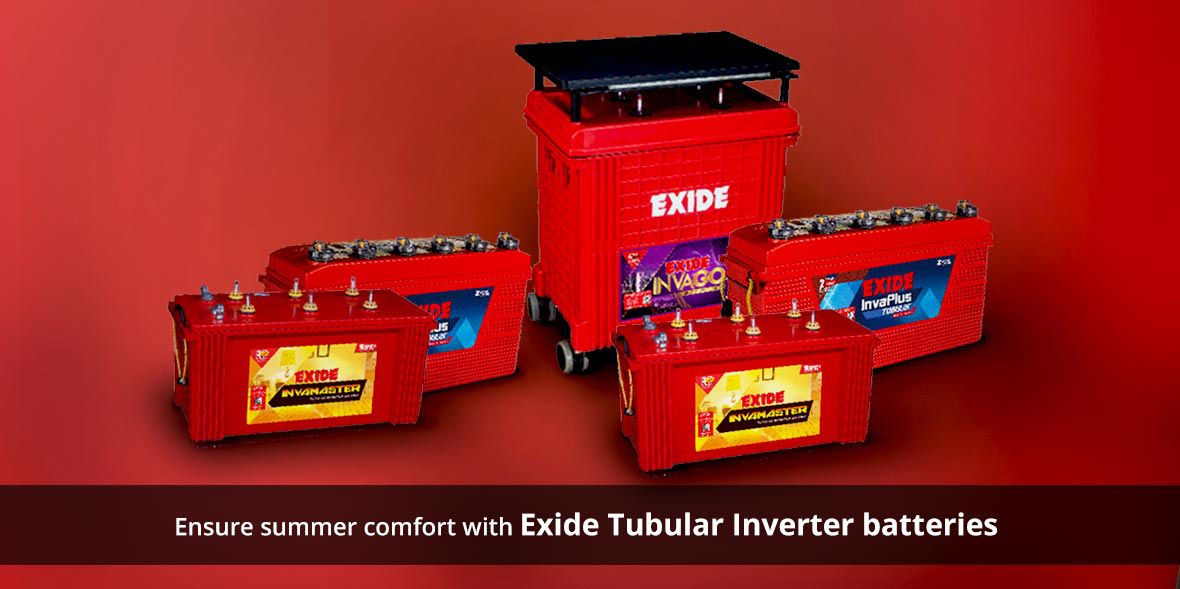 Ensure summer comfort with Exide Tubular Inverter