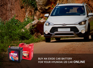 Buy an Exide Car Battery for your Hyundai i20 car