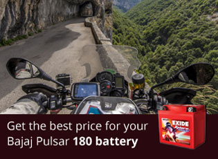 Get the best price for your Bajaj Pulsar 180 batte