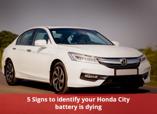 5 Signs to identify your Honda City battery is dyi