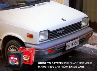 Guide to battery purchase for your Maruti 800 car