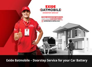 Exide Batmobile - Doorstep Service for your Car Ba