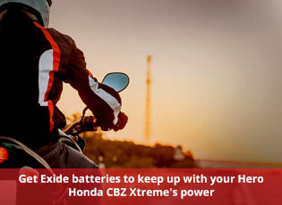Get Exide batteries to keep up with your Hero Hond
