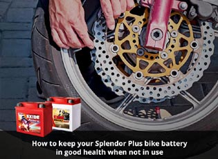How to keep your Splendor Plus bike battery in goo