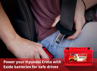 Power your Hyundai Creta with Exide batteries for