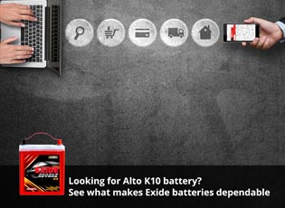 Looking for Alto K10 battery? - See what makes Exi