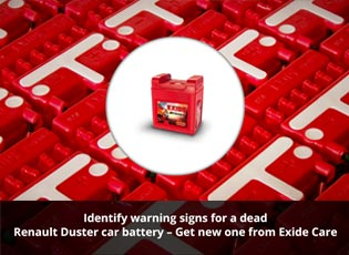 Identify warning signs for a dead Renault Duster c