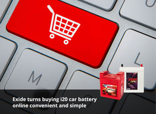 Exide turns buying i20 car battery online convenie