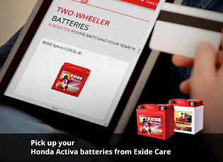Pick up your Honda Activa batteries from Exide Car