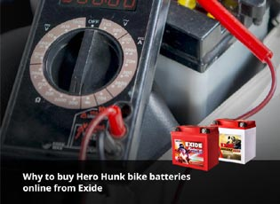 Why to buy Hero Hunk bike batteries online from Ex