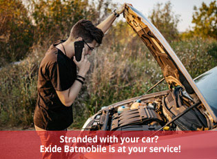 Stranded with your car? Exide Batmobile is at your