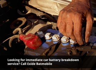 Looking for immediate car battery breakdown servic
