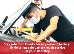 Stay safe from Covid - For any make of battery, Ex