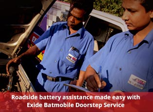 Roadside battery assistance made easy with Exide B