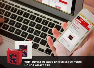 Why invest in Exide batteries for your Honda Amaze
