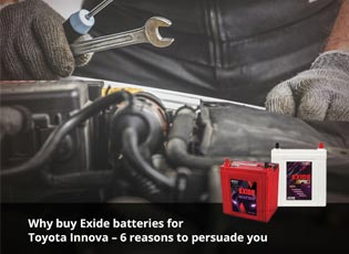 Why buy Exide batteries for Toyota Innova - 6 reas