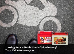 Looking for a suitable Honda Shine battery? Trust
