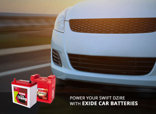 Power your Swift Dzire with Exide car batteries