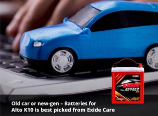 Old car or new-gen - Batteries for Alto K10 is bes