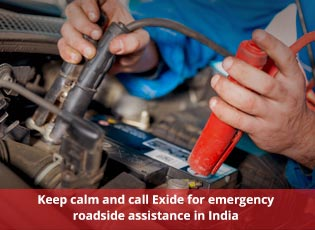 Keep calm and call Exide for emergency roadside as