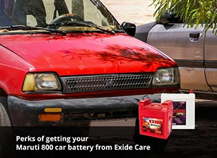 Perks of getting your Maruti 800 car battery from